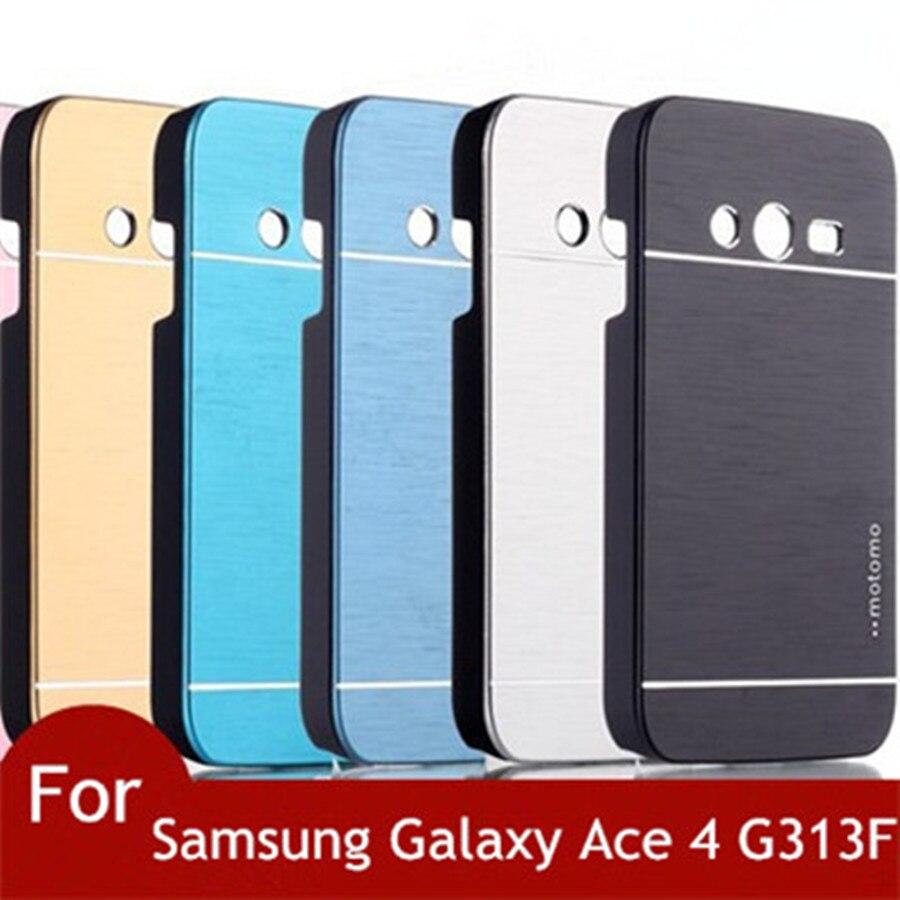 """Ace 4 Neo G318H Motomo Alumínio Escovado Case Capa Para Samsung Galaxy Ace 4 G313 G313H G313F G318ML Neo Duos Capa Celular 4"""""""