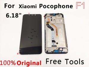 "Image 1 - מקורי LCD עבור 6.18 ""xiaomi pocophone F1 LCD תצוגת pocohone F1 dispay poco F1 LCD תצוגת מסך מגע LCD + מסגרת"