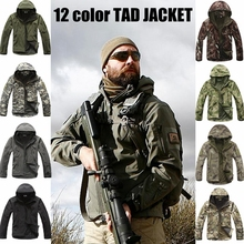 Softshell Tactical Suits Men Outdoor Hiking Clothes Military Tactical Jacket Outdoor Camouflage Hunting Fleece Hooded Coat недорого