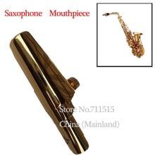 (Selma) Brand Professional Eb Gold Plated boquilha Sax Alto Saxophone Metal Mouthpiece 7 Playing the Jazz Music Nice Gloss