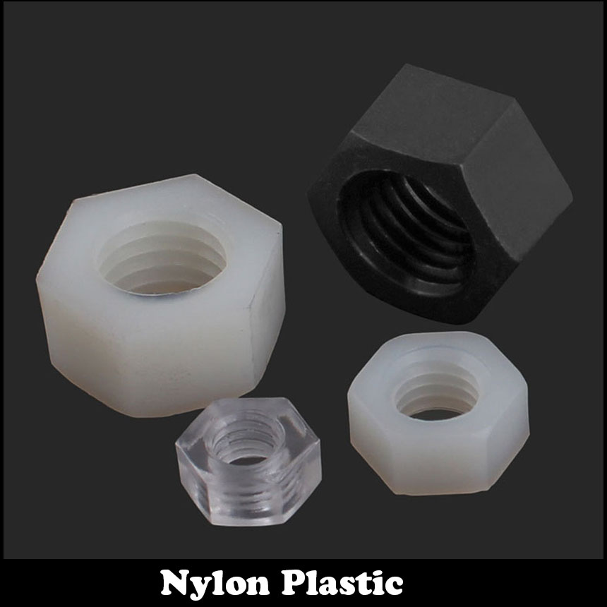 M8 M10 M12 M14 M16 DIN934 White Acrylic Metric Thread Antistatic Insulation Hex Nuts Hexagon Hexagonal Nylon Plastic Nut