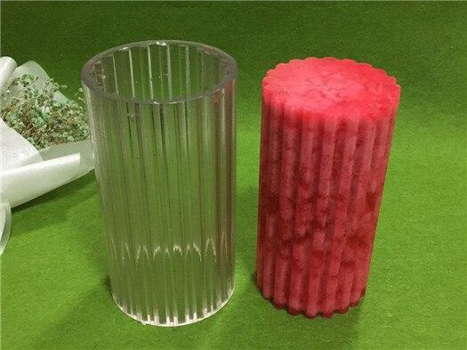 DIY redonda dientes gruesos raya con diámetro 7.5 cm vela que hace el modelo de la vela, alta temperatura resistente vela molde para DIY