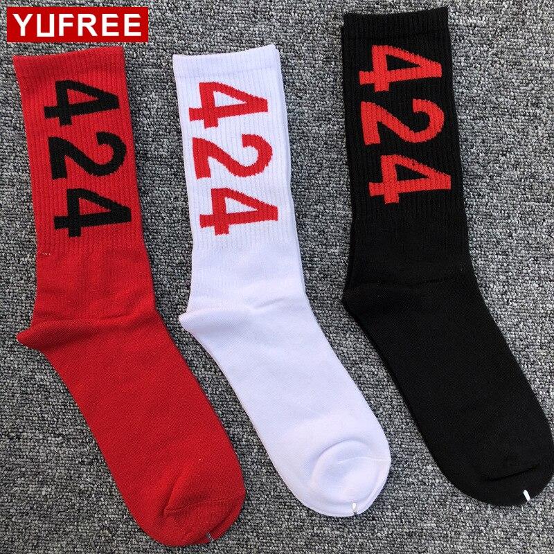 Autumn Winter Men Socks Cotton Hip Hop Funny Socks For Mens Skateboard Chaussette Homme 424 Print Man Happy Socks HE87