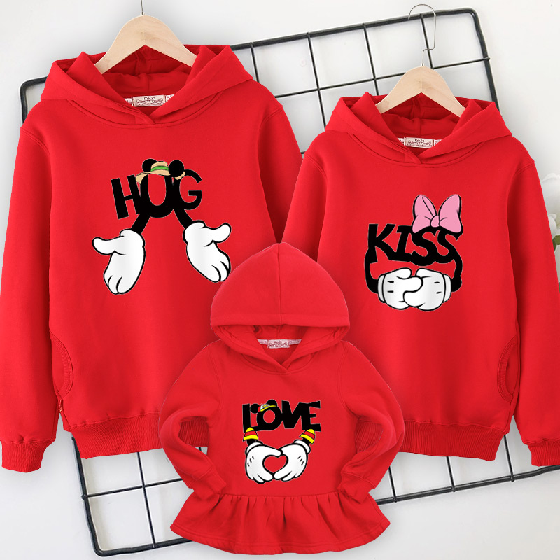 Image 2 - Family clothes family matching Hooded sweater 2019 spring  new mother daughter dresses  father and son mom and girl clothing-in Matching Family Outfits from Mother & Kids