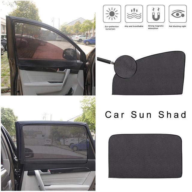 Estate Addensato Maglia Auto Tenda Da Sole Auto Tenda Magnetica Tenda Da Sole di Protezione UV Finestrini laterali Maglia Visiera di Sun