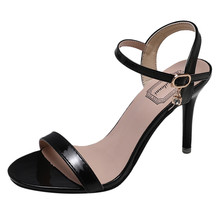 High Quality Pumps Thin Heels Shoes Wedding Party Summer Ladies Fashion Open Toe High Heels Women Party Wild Stiletto Sandals cheap SAGACE Basic Med (3cm-5cm) Pointed Toe Rubber Slip-On pumps women shoes 2019 new pumps for women high heel pumps womens pumps heels
