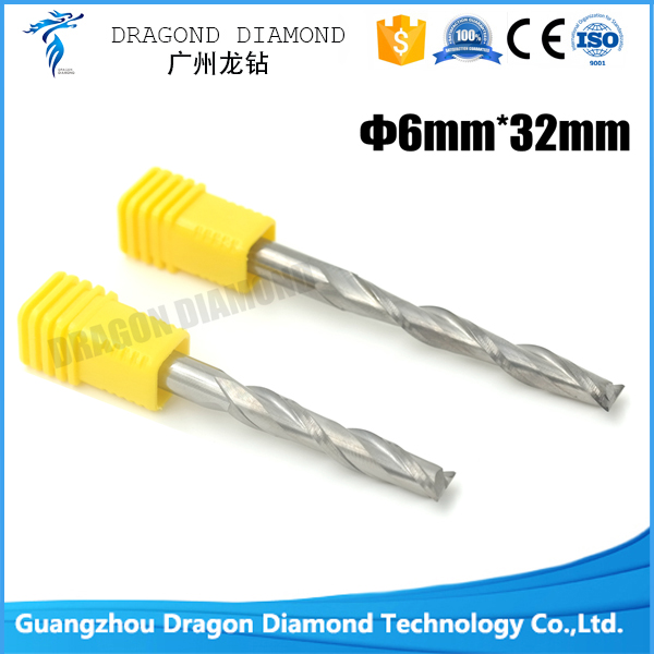 5pcs 6mm*32mm Two Flutes Carbide Spiral bits, End Milling Tools, CNC Cutting Bits, Engraving Cutter on Woodworking  цены