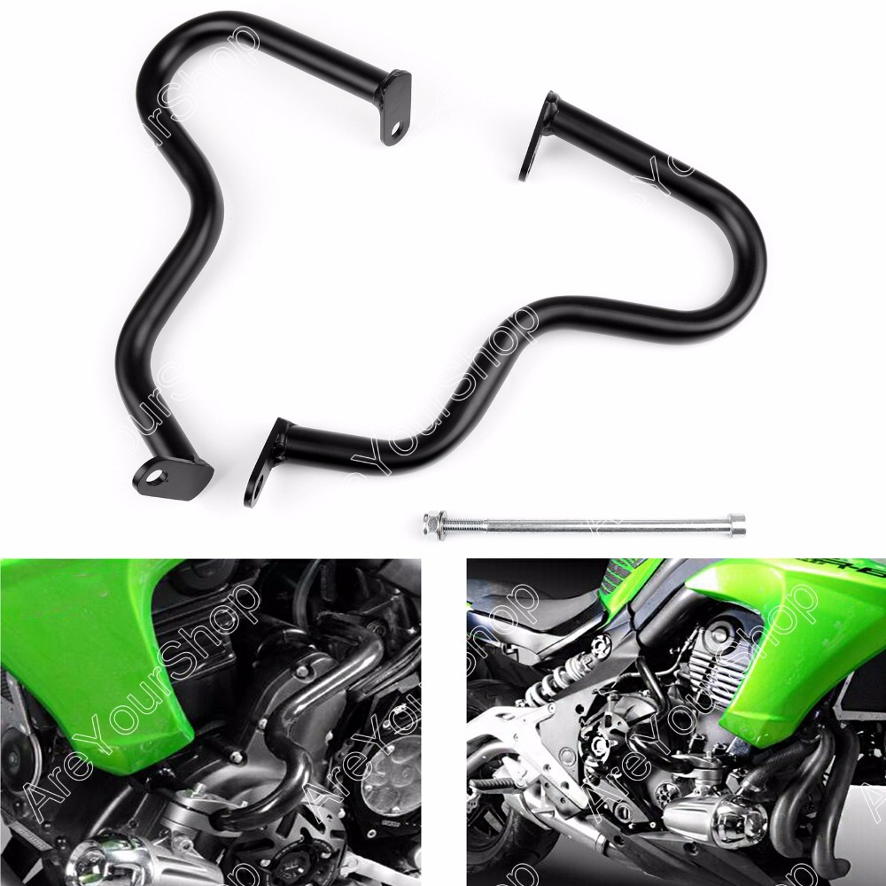 Areyourshop Motor Engine Guard Crash Bar Guard protection For Kawasaki ER-6N ER6N 2012-2015 Black High Quality Motorbike Covers