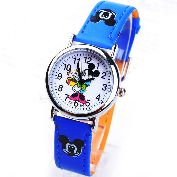 2019 Fashions Mouse Mickey Brand Children Cartoon Wrist Watch Pu Leather Sports Watches Ladies Rhinestone Dress Clocks Relogios