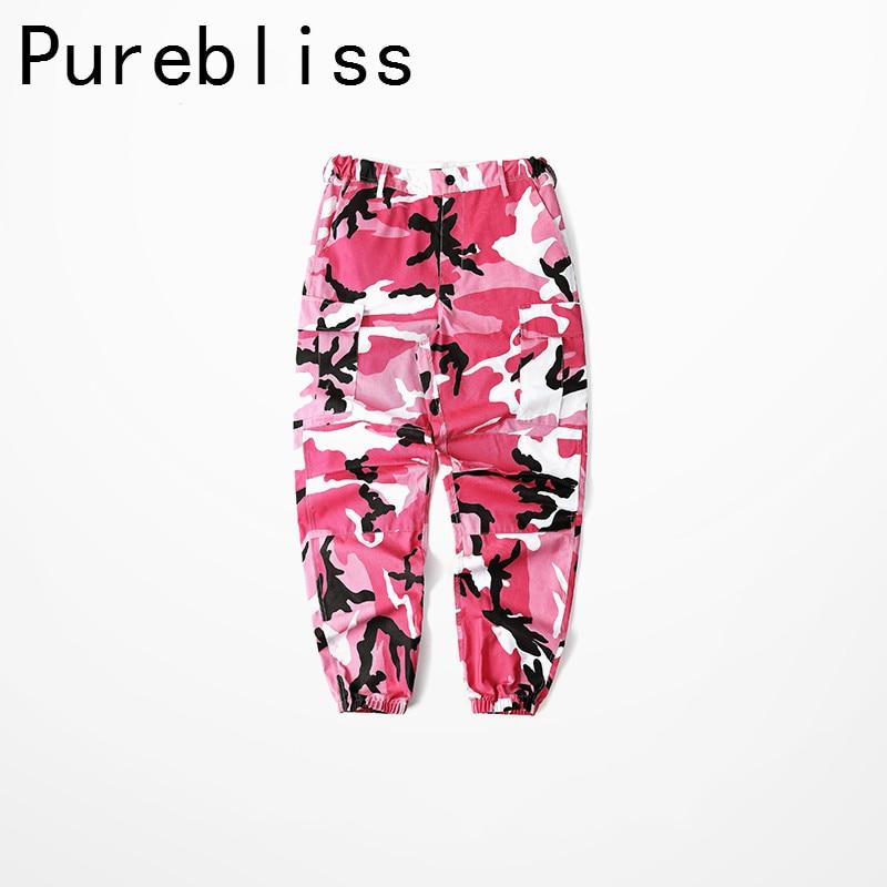 purebliss Orange Pink Camouflage Cargo Pants Men Women ...