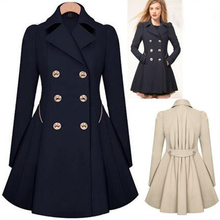 Women down coat Slim trench coat for women manteau femme long coat abrigos mujer For sexy girl