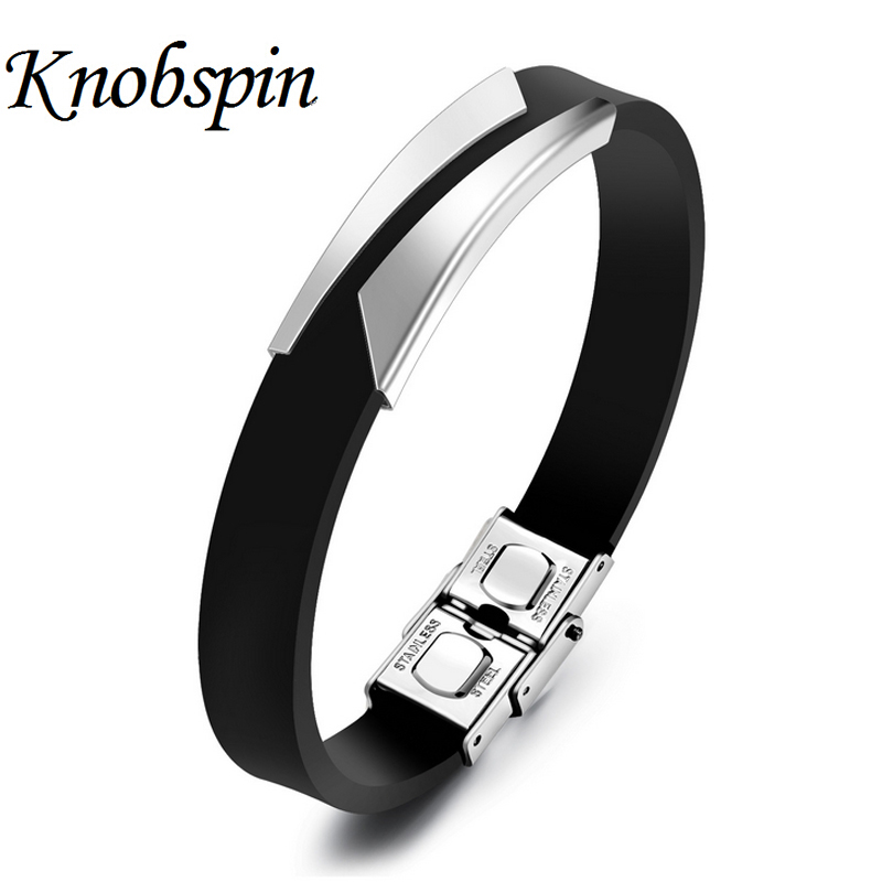 New arrival fashion men bracelet masculina gifts casual style male jewelry silicone Bracelets hand accessories Wholesale