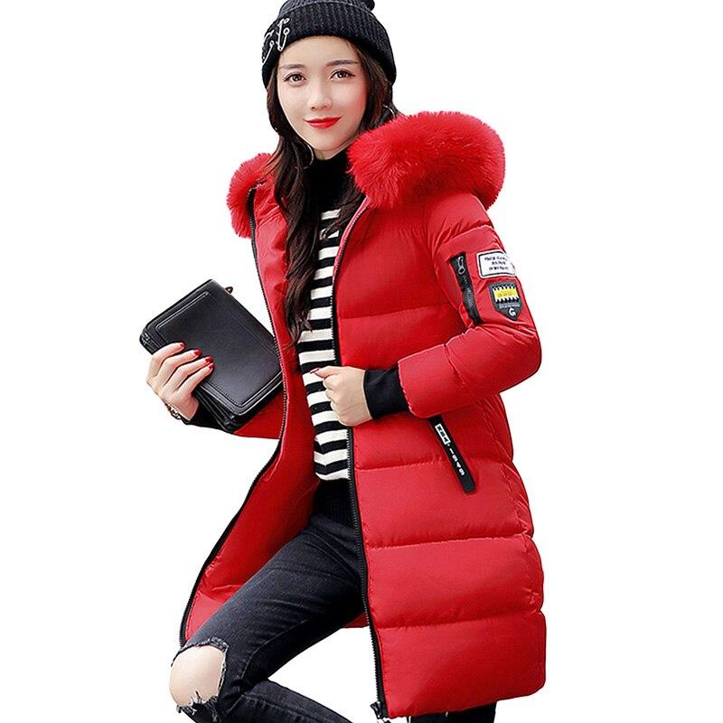 Новинка 2017 года зимнее пуховое пальто Для женщин Толстая куртка Тонкий капюшоном утка Подпушка длинные Парка на пуху теплые пальто yp0587