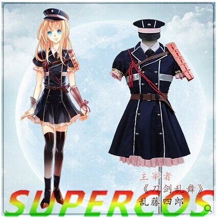 Doprava zdarma! Touken Ranbu Online Midare Toushirou Uniformní kostým Cosplay, perfektní pro Vás!