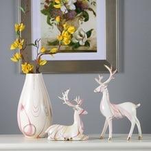 Modern minimalist deer ornaments handicraft christmas decorations for home cabinet display cabinets furnishings sof