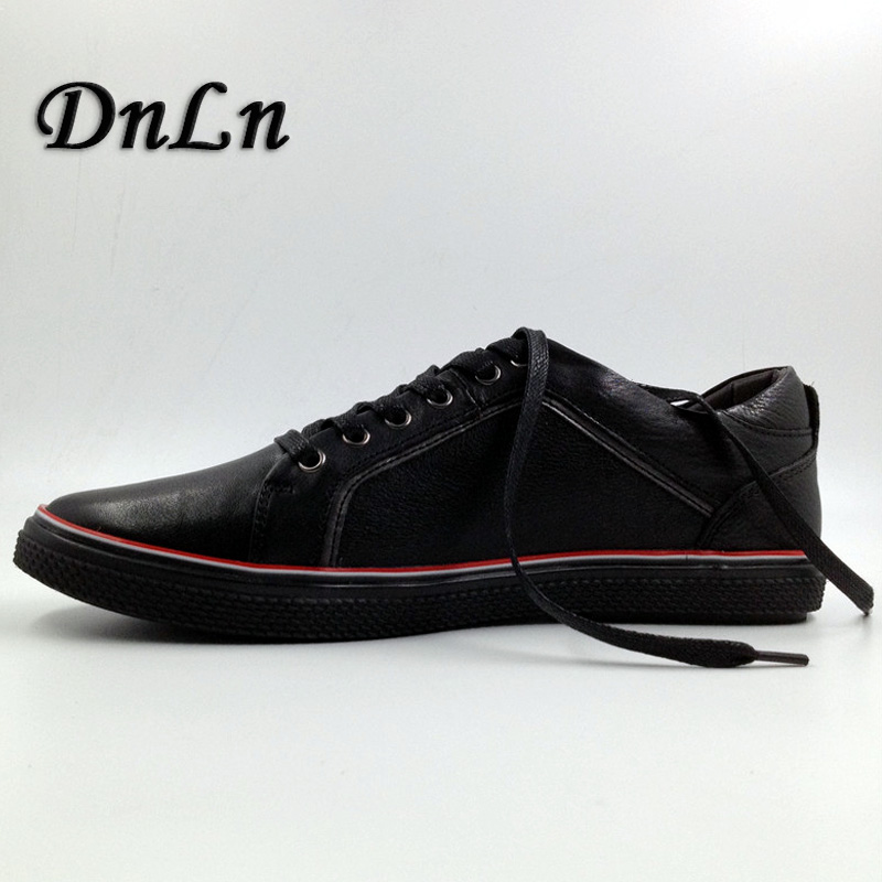 Men Fashion Shoes High Quality Men Flat Shoes Black Red Gray Brown Sneakers Men Shoes  D30 original vans black and blue gray and red color low top men s skateboarding shoes sport shoes sneakers