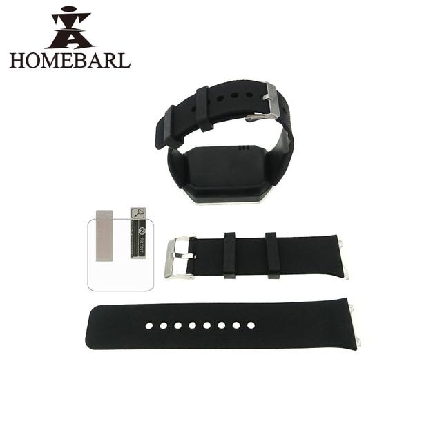 DZ09 correa de reloj inteligente reloj de silicona de banda de reloj de muñeca correas Correa correa de reloj de pulsera + HD Protector de pantalla