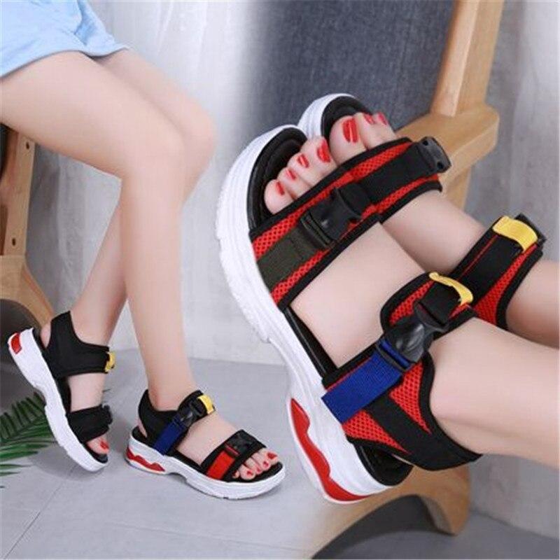05a24787827 Mujeres Nuevo Romano Moda rojo Lazo Zapatos Casuales Tobillo Unisex Y  Sandalias Gancho Verano De Blanda Sandales Gladiador Suela ...