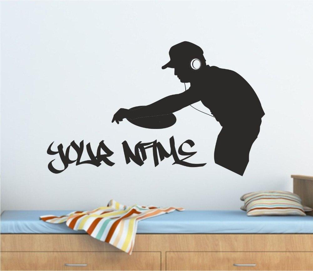 Dj Musik Vinyl Wandtattoo Personalisierte Graffiti Dj Decks Musik Wandkunst Aufkleber Wandtattoo Viele Farben Hause Shop Dekoration Shop Decor Vinyl Wall Decalsmusic Vinyl Aliexpress