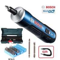 BOSCH GO Mini destornillador eléctrico 3,6 V batería de iones de litio recargable taladro eléctrico inalámbrico con juego de brocas