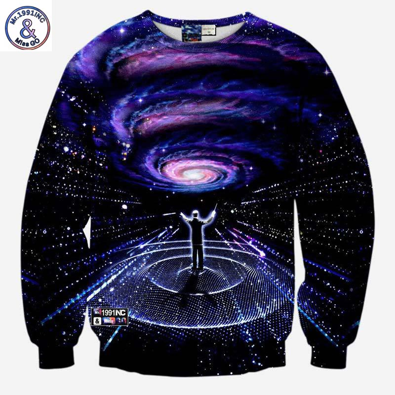 Mr.1991INC Fashion style Men's 3d sweatshirts print Musicians direct Symphony space whirl nebula galaxy hoodies pullover