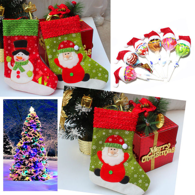 32711939fbdbfa Xmas Cute Baby Kids Girls Boy Cotton Stocking Christmas Party Warm Stockings  Green Red Booties Santa Claus And Snowman
