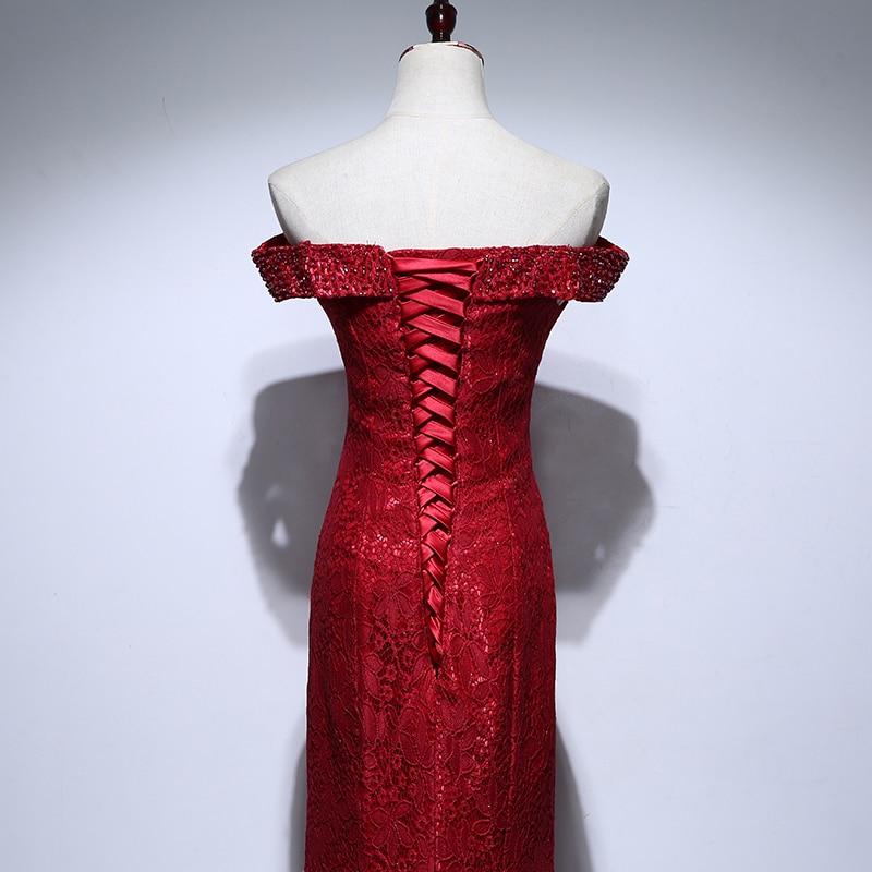 Rochii de mireasa de mireasa de pe umar Beading Rochie elegantă de - Rochii de seară de nuntă - Fotografie 5