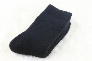 Image 4 - 1 lot=3 pairs=6 pieces Wool socks warm socks plus thick velvet solid color thickening winter wool socks Mens socks 2019 winter