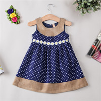 Autumn And Winter Children S Garment Girls Dress Fashion Rendering Sleeveless Vest Girl Princess Dress