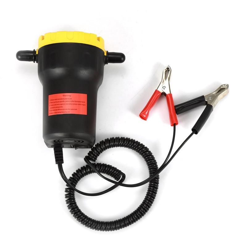 12 v Piccolo di Aspirazione della Pompa Elettrica Del Carburante Pompa di Trasferimento Pompa Elettrica Cambiare Scavenging di Pompa Olio Fluido Camion Moto Strumento HWC