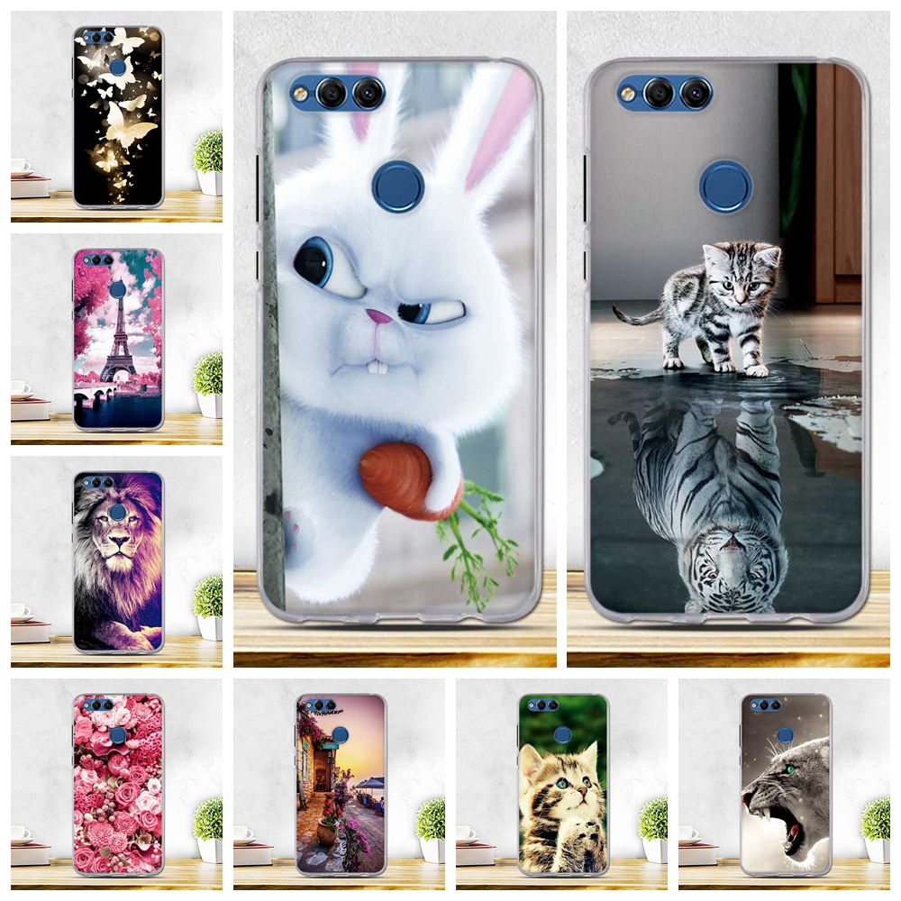 Phone Cases For Huawei Honor 7x Case Soft Silicone Cover For Honor 7x Coque For Huawei Honor 7X Funda Phone Cases Print Cover