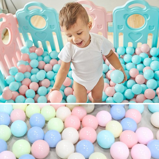100pcs/lot Eco-Friendly Colorful Plastic Ball Water Pool Ocean Wave Ball Toys Stress Air Ball Outdoor Sports Toys for Children