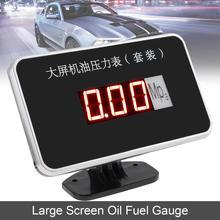 12V 24 V Universal Car Oil Fuel Gauges Digital Large Screen Anti-shake Oil Fuel Gauge with Sensor Auto Instrument for Car Truck стоимость