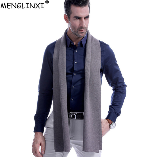 fc3a6984d 8 Solid Color Men Cashmere Scarf Winter Fashion Brand Scarf 2018 New Best  Christmas Gift Wool Muffler Man Casual Scarves Warps