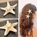 2016 Hot New Trendy Natural Headwear Big Starfish Pattern Mulheres Praia Férias S/L Cabelo Presilhas Cabeça Decoração FreeShipping