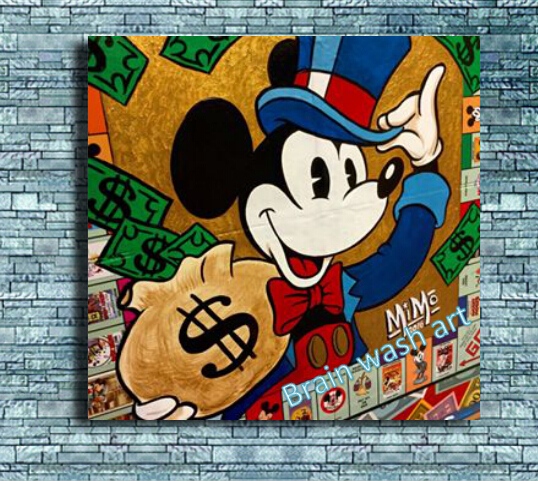 alec monopoly graffitti street art mike mozart art work hand painted