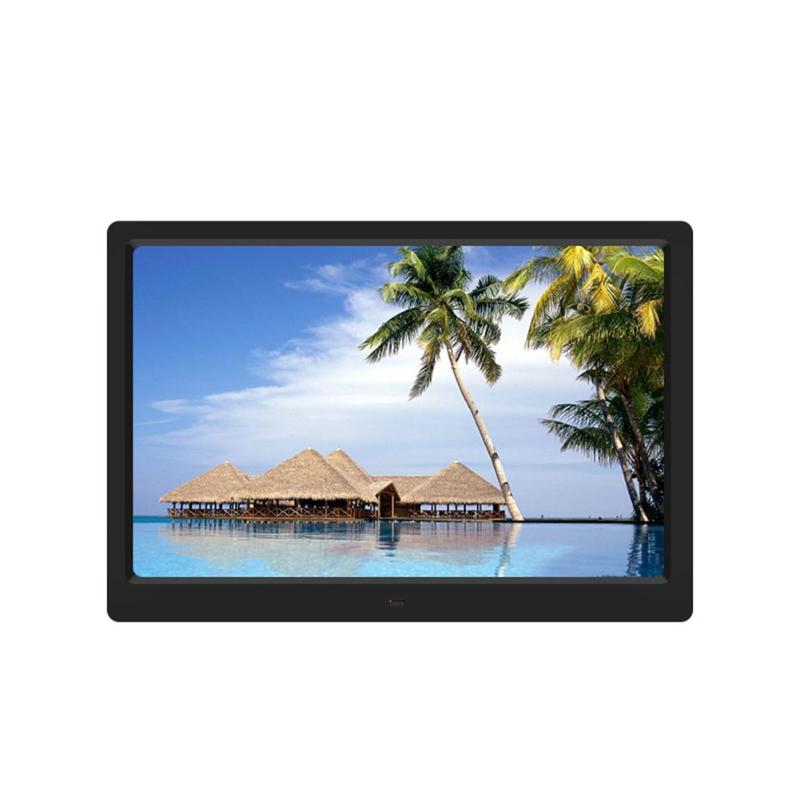 цена на ALLOET 15.4 HD Digital Photo Frame MP3 MP4 Movie Video Player Calendar Alarm Clock Photo Housing Frame Support SD USB HDMI Plug