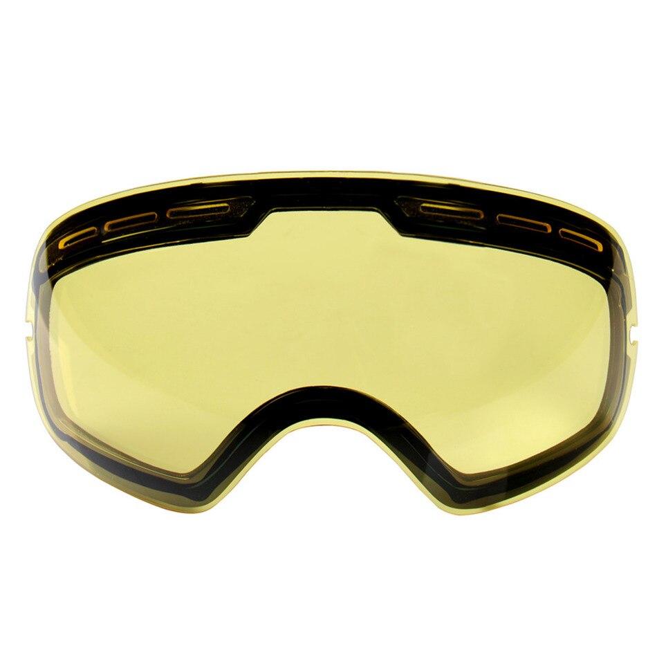 Prix pour Double éclaircissement lentille pour ski lunettes Nuit de Numéro de Modèle GOG-201 Pour faible Lumière teinte Temps Nuageux Drop Shipping