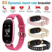 2018 New S3 Smart Bracelet Bluetooth Wristband Phone SMS Heart Rate Fitness Tracker Sleep Monitor Women Bracelet Sport Mi Band 2