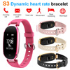 2018 New S3 Smart Bracelet Bluetooth Wristband Heart Rate Tracker Sleep Monitor Remote Control Camera Music