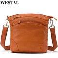 Сумка на плечо WESTAL женская из натуральной кожи, саквояж кросс-боди с клапаном, маленькая сумочка-мессенджер, 8363