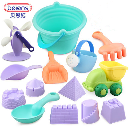 Beiens Beach Tools Set Sand Playing Toys 14pcs/set Kids Fun Sand Toy Water Beach Outdoor Tools Seaside Brand Toys ...