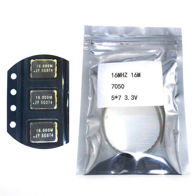 10 шт. SMD 5070 активных кварцевый генератор OSC 16 мГц 16 м 7050 5*7 3,3 В 25PPM