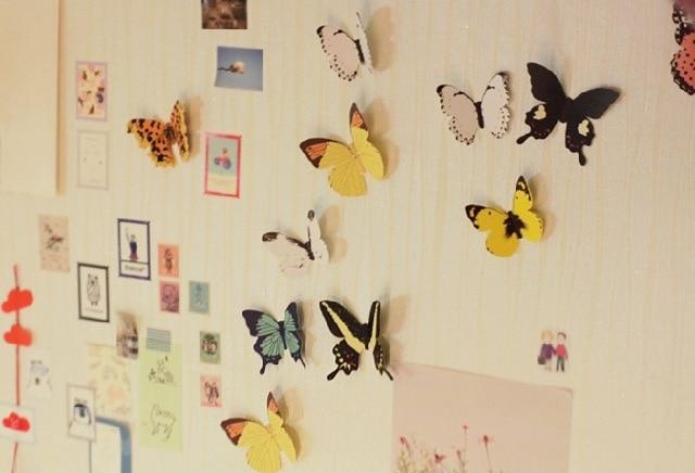 Diy papier muur deco d vlinder vivid leuke vlinder art diy decor