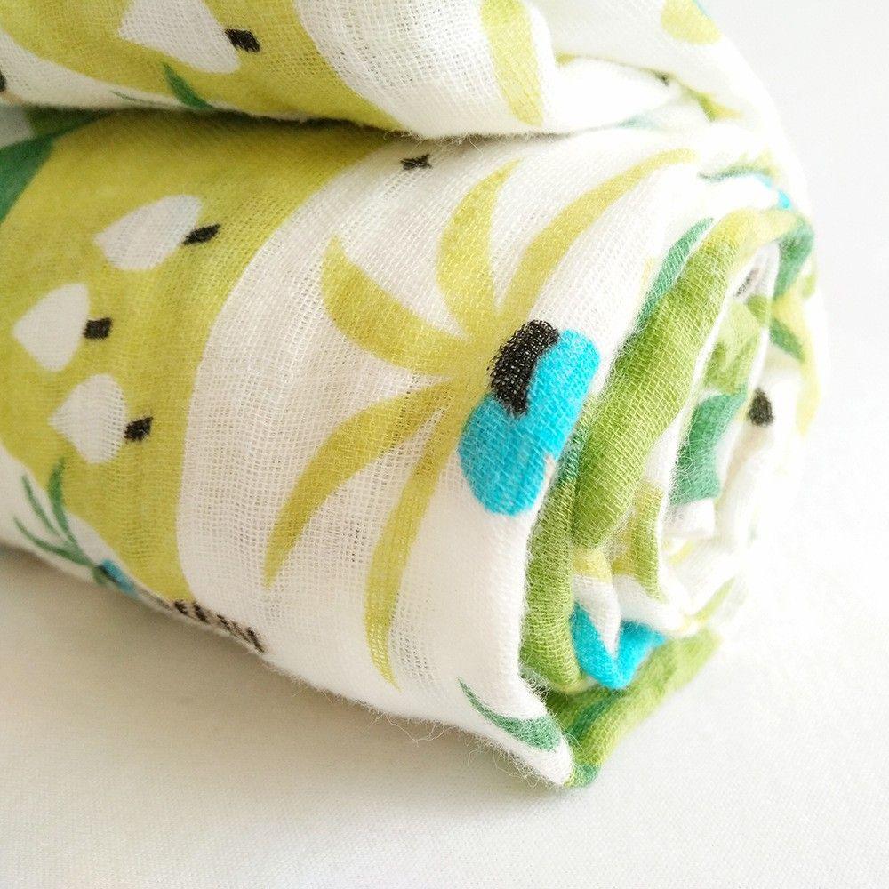 1 STÜCK Beliebte Neugeborenen Weiche Atmungsaktive Musselin Decke Baby Swaddle Cartoon Gedruckt Baumwolle Multi-verwendung Decke Bettwäsche Wrap