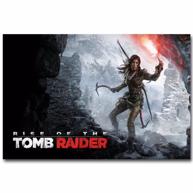 J3071 Rise Of The Tomb Raider Hot Game Lara Croft Pop Silk Art Poster Top