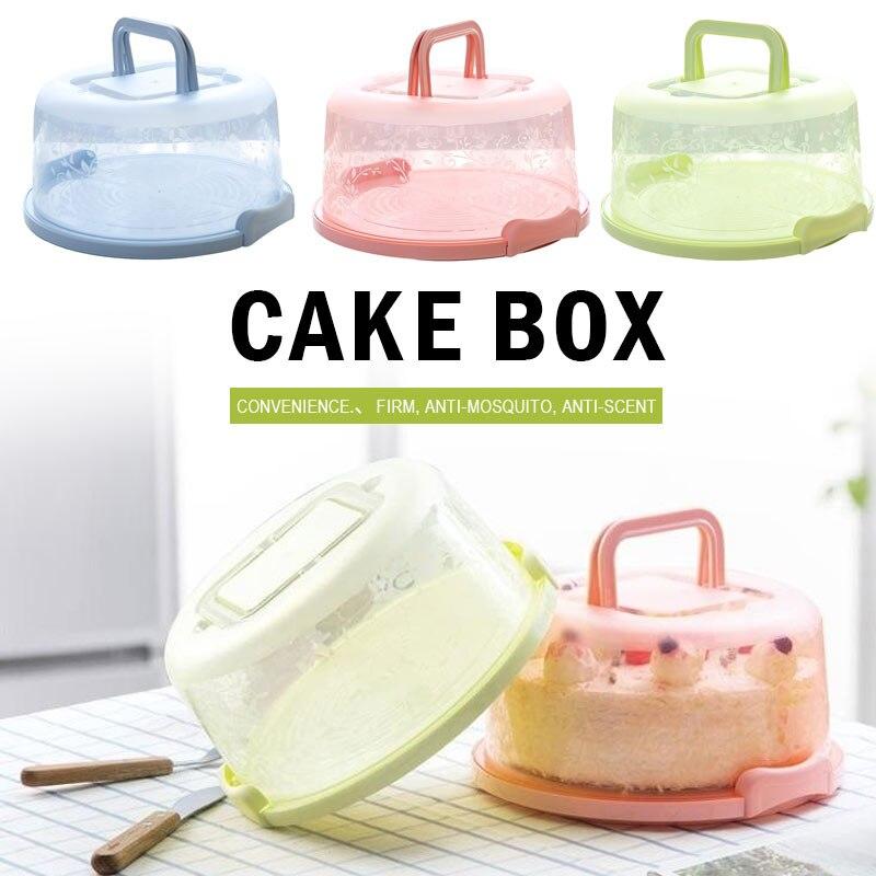 Коробка для торта пластиковая круглая ручной кухонный инструмент для украшения свадебного торта День рождения без деформации коробка для хранения торта Контейнер для кексов