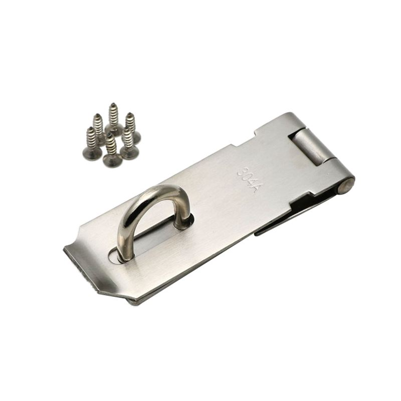 Gate Door Latch Lock Padlock Stainless Steel Hasp Staple