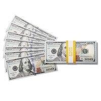 Оптовая продажа поддельных копий денег $100 сто долларов купюр, реалистичные игральные деньги, которые выглядят реальными, двухсторонние рол