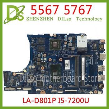 Kefu CN-0KFWK9 материнская плата для Dell Inspiron 5567 5767 Материнская плата ноутбука BAL20 LA-D801P i5-7200U R7 M440 протестированная 100% работа